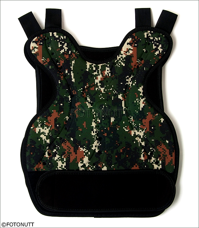 CAMO Body Armor Tactical Paintball Back PROTECTOR Airsoft CHEST